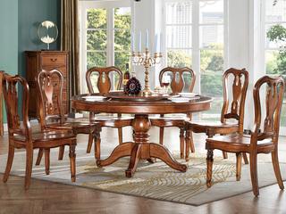 简美风格 北美鹅掌楸木 木面餐椅
