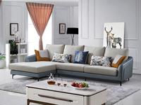 芬洛 現代簡約 科技布+科技絨  彈簧底坐 轉角沙發(3+右貴妃)