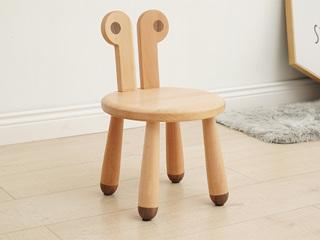 北欧风格 榉木坚固框架 手工木蜡油工艺 曲奇色 ET6202儿童椅