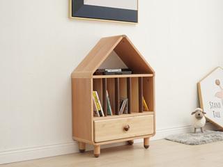 北欧风格 榉木坚固框架 手工木蜡油工艺 曲奇色 ET6508矮书柜