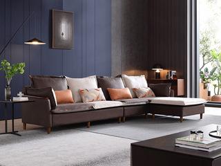 现代简约 进口樟子松坚固框架 科技布 坐包双面布色 2030 弹簧底坐 沙发组合(2+2+贵妃踏)不分方向