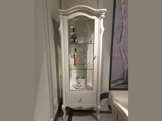 简欧系列 实木边框 J-201仿古白单门装饰柜