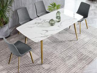 轻奢风格 大理石 1.4米长餐桌