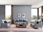 源木时光 北欧风格  科技布沙发 沙发组合(1+2+3)