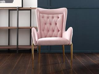 轻奢风格 不锈钢镀钛金 优质绒布 进口优质实木餐椅(单把价格 需双数购买 单数不发货)