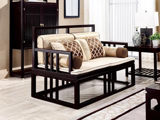 新中式 东南亚进口红檀木 真丝靠包 K903 双位沙发