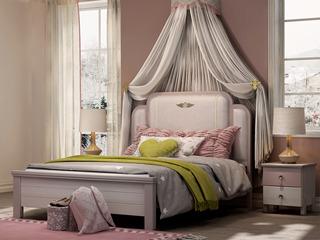 简美 卡慕斯系列 泰国进口橡胶木 舒适软靠 精细压边 1.5*2.0儿童床