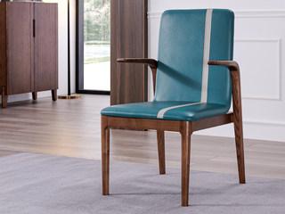北欧风格 北美进口白蜡木 舒适软包坐垫 书椅