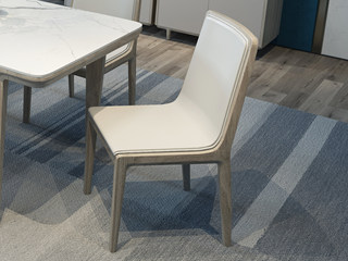 现代简约 北美进口白蜡木 舒适靠背 超纤皮 餐椅