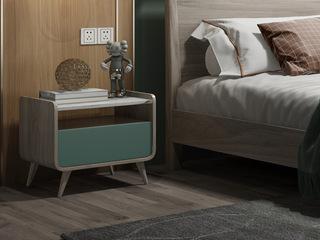 现代简约 进口白蜡木 高斜脚 床头柜