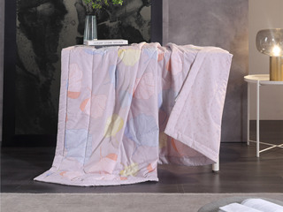 慕思集团时尚品牌 夏风之声 150*215cm 亲肤透气 纯棉印花面料  被芯