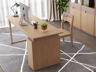 北欧风格 泰国进口橡胶木 1.5米书桌