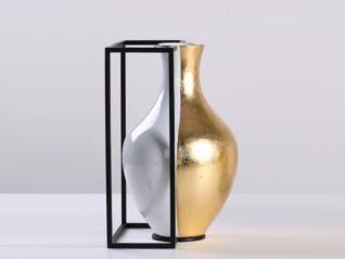 新中式风格 陶瓷+铁艺 花器