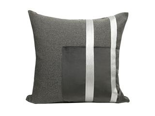 轻奢 肌理布+绒布 棕色 花纹 抱枕
