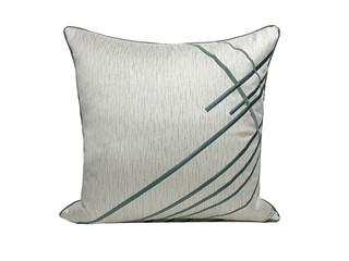 轻奢 肌理布 银色 花纹 抱枕