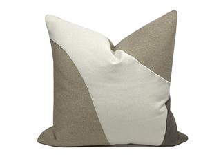 轻奢 肌理布 米色 花纹 抱枕