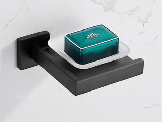 【包邮 快递到家(偏远地区除外)】 浴室挂件 黑色仿古抗锈 304不锈钢 工业风肥皂碟 玛莎黑色肥皂碟 Q7007H