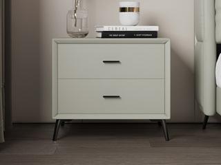 极简风格 气质中性灰 扪皮 床头柜