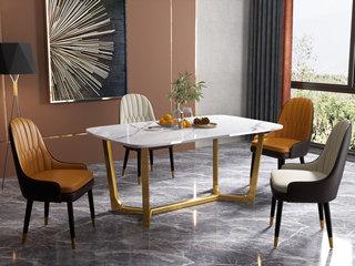 气质轻奢 1.4米 大理石台面 餐桌