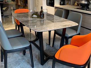 极简 意大利深灰岩板 1.4米 餐桌