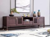 东方印记 新中式 紫檀色 泰国进口橡胶木电视柜
