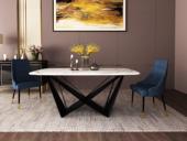 梵克美家 极简 大理石 1.6米 餐桌