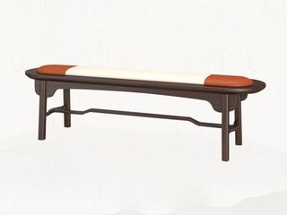 新中式 乌金木 JRZS-1002-床尾凳