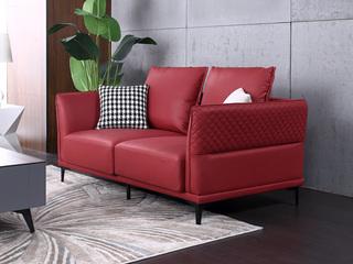 科技布 松木底架 现代简约 双人位 沙发