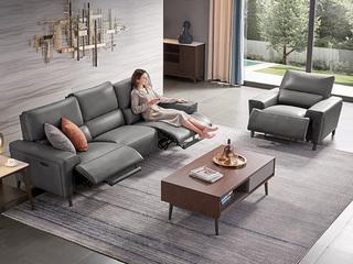 头等舱 意式风格 防水防污易清洁 功能 单人位 电动沙发(此款不含抱枕)