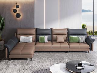 意式极简 优质科技布 高回弹海绵 转角沙发(1+3+贵妃)不分左右