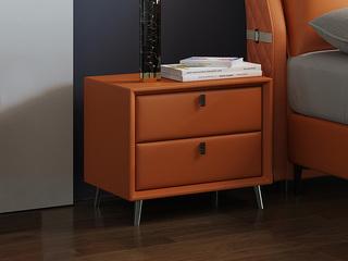 現代簡約 金橙色 床頭柜
