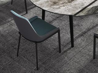 现代极简 皮艺 绿色餐椅