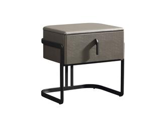 极简风格 碳素钢脚 烤漆 床头柜