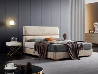 潮品系列 极简风格 6237床 1.8*2.0米 科技布床