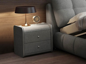 卡罗亚 极简风格 浅灰色 布艺 床头柜