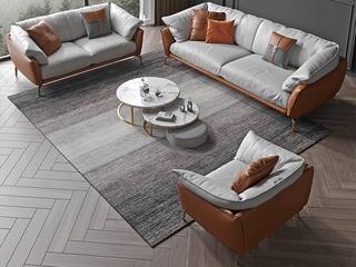轻奢风格 全实木框架 羽绒公仔包 单人位 布艺沙发