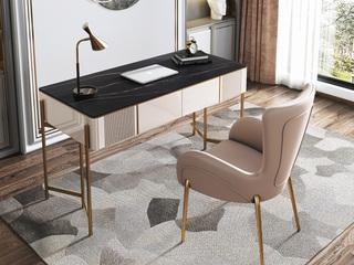 轻奢 岩板 书桌(长1400mm)