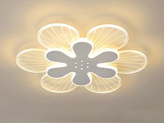 【包邮 偏远地区除外】 轻奢风格 铁艺+亚克力DG2002 420三色光 吸顶灯(含光源 LED28W)