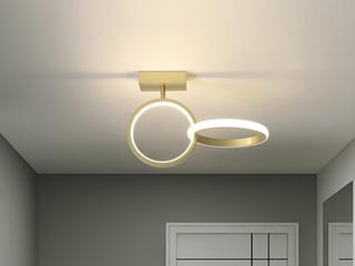 【包邮 偏远地区除外】 现代简约 LED光源 遥控三色调光正白光暖光中性光 金色圆形壁灯高低户通用(含光源)