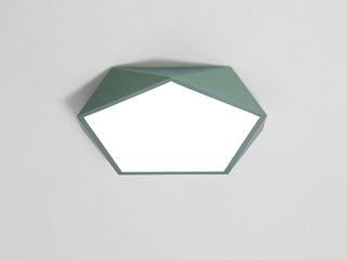【包邮 偏远地区除外】 现代 铁艺+亚克力 绿色 超薄钻石350*350 三色光 吸顶灯(含光源 LED18W)