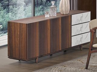 中式简约 岩板台面 白蜡木 餐边柜