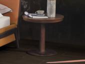 左妮丹思 中式简约 尤加利木皮 橙色 床头柜