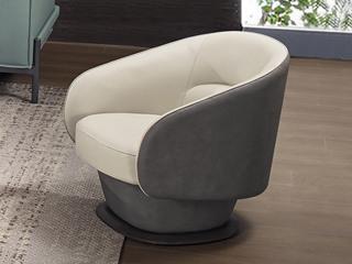 中式休闲系列 真皮 白蜡木 高弹舒适 休闲椅