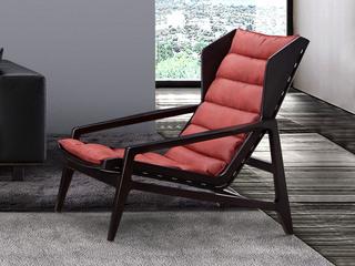 中式休闲系列 羽绒 白蜡木 布艺休闲躺椅