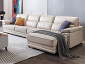 芝华仕 现代简约 五星坐感 头层牛皮+实木框架 1+3+面向沙发右脚位(左贵妃) 不含抱枕 转角沙发