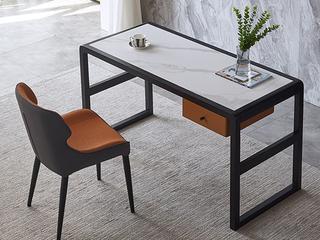 极简风格 意式进口岩板 白蜡木框架 耐磨防刮 长1.6米书桌