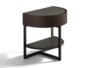 极简风格 进口烟熏木工艺 实用双层置物 边柜