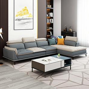 紓康 極簡風格 科技布雙色沙發