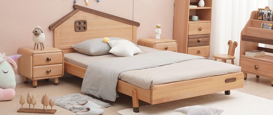 北歐印象 櫸木堅固框架兒童床
